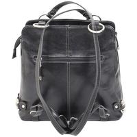 Sacs Femme Cabas / Sacs shopping Katana Sac Shopping/ Sac a Dos En Cuir De Vachette Collet K 82612 Noir