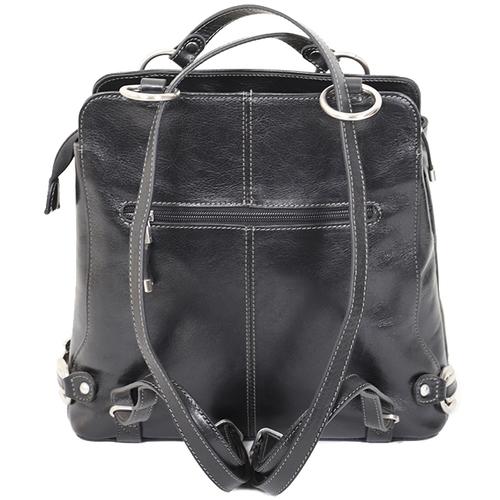 Sacs Femme Cabas / Sacs shopping Katana Sac shopping / Sac a dos en cuir de Vachette collet K 82612 Noir