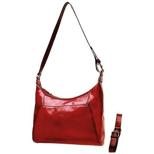 Sacs Femme Sacs porté épaule Katana Besace en cuir de Vachette collet K 82362 Rouge