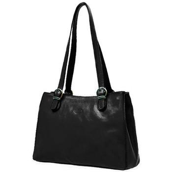 Sacs Femme Cabas / Sacs shopping Katana Sac shopping en cuir de Vachette collet K 82533 Noir