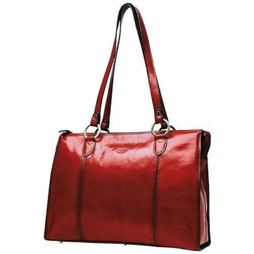 Sacs Femme Cabas / Sacs shopping Katana Sac shopping en cuir de Vachette collet K 82132 Rouge