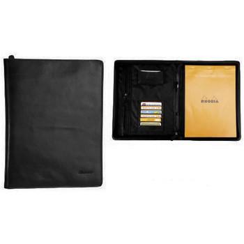 Sacs Homme Porte-Documents / Serviettes Katana Conferencier cuir de Vachette pleine fleur K 6800 Noir