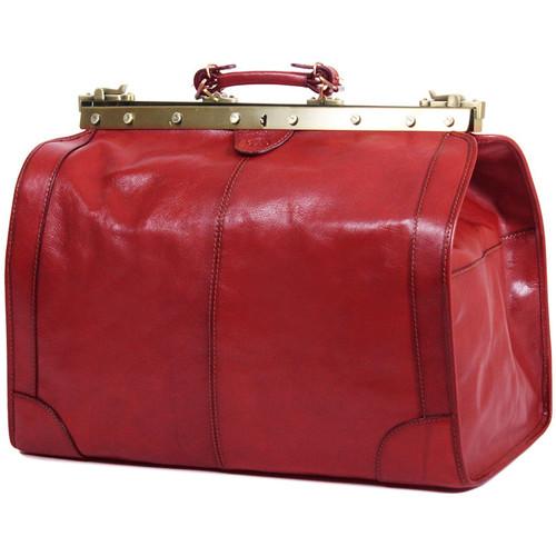 Sacs Femme Sacs de voyage Katana Sac de voyage Diligence Cuir de Vachette Collet K 8256 Rouge