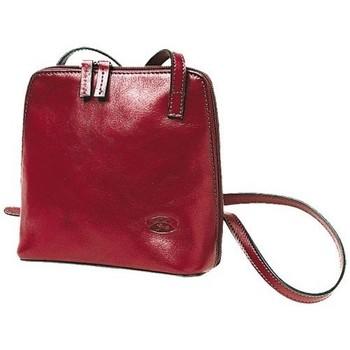 Sacs Femme Besaces Katana Besace portee travers en cuir de Vachette collet K 1808 Rouge