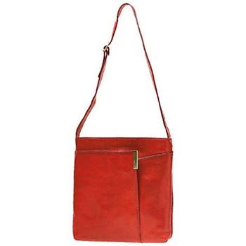 Sacs Homme Besaces Katana Besace en cuir de Vachette collet K 82517 Rouge
