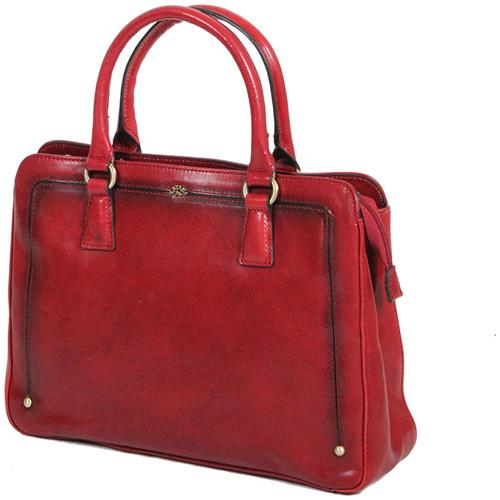 Sacs Femme Sacs porté main Katana Sac a main en Cuir de Vachette Collet Vegetal K 66805 Rouge