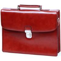 Sacs Homme Porte-Documents / Serviettes Katana Serviette  Refente de cuir de Vachette K63041 Rouge