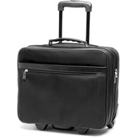 Sacs Homme Sacs de voyage Gerard Henon Trolley New Styl' nylon garni cuir de Vachette GH 2362B Noir