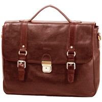 Sacs Homme Porte-Documents / Serviettes Katana Cartable 1 soufflet Cuir de Vachette gras K 36841 Marron