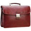 Sacs Homme Porte-Documents / Serviettes Katana Cartable Cuir de Vachette Gras 2 soufflets K 31022 Rouge