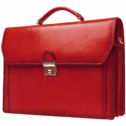 Sacs Homme Porte-Documents / Serviettes Katana Cartable refente de cuir de vachette 2 soufflets K 63025 Rouge