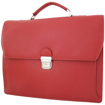 Sacs Femme Porte-Documents / Serviettes Katana Cartable 2 soufflets Cuir de Vachette graine K 69327 Rouge