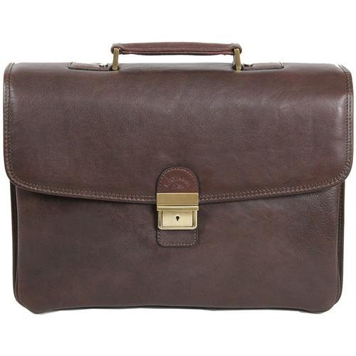 Sacs Homme Porte-Documents / Serviettes Katana Cartable en cuir de vachette gras 4 soufflets K 31028 Chocolat