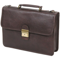 Sacs Homme Porte-Documents / Serviettes Katana Cartable Cuir de Vachette gras K31025 Chocolat