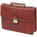 Sacs Homme Porte-Documents / Serviettes Katana Cartable Cuir de Vachette gras K31025 Marron