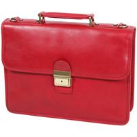 Sacs Homme Porte-Documents / Serviettes Katana Cartable Cuir De Vachette Gras K31025 Rouge