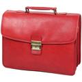 Sacs Homme Porte-Documents / Serviettes Katana Cartable Cuir de Vachette gras K31033 Rouge