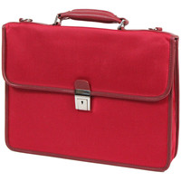 Sacs Homme Porte-Documents / Serviettes Katana Cartable Nylon Garni Cuir de Vachette K16037 Rouge