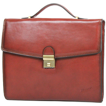 Sacs Homme Porte-Documents / Serviettes Katana Cartable Cuir de Vachette Collet K 68128 Marron