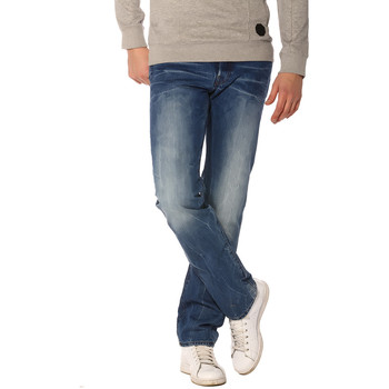 Vêtements Homme Jeans droit G-Star Raw Jeans Homme - 3301 STRAIGHT_LIGHT AGED (WISK DENIM) Bleu