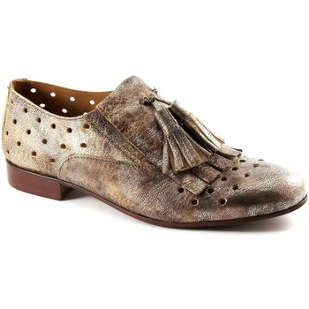 Chaussures Femme Richelieu Mat:20 MAT: 20 3017 chivas miel bronze chaussures perforées glissent su Beige