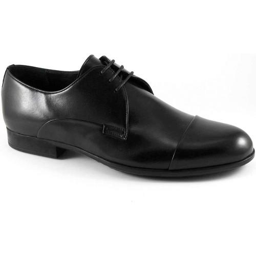 Melluso U24401 chaussures noires homme derby élégant embout en cuir Nero - Chaussures Richelieu Homme