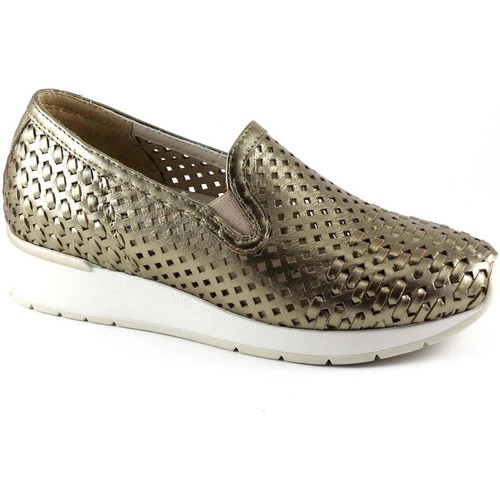 Chaussures Femme Mocassins Melluso WALK R20006 aube chaussures d'or femme plantaire amovible mocas Oro