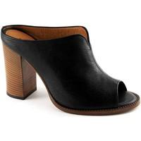 Chaussures Femme Sandales et Nu-pieds Malù MALU '1445 chaussures noires ouvertes orteils sandales socket fe Nero