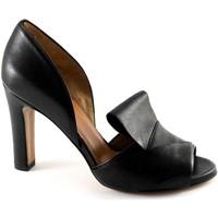 Chaussures Femme Sandales et Nu-pieds Malù MALU '1460 sandales chaussures pour femmes noires germés talon t Nero