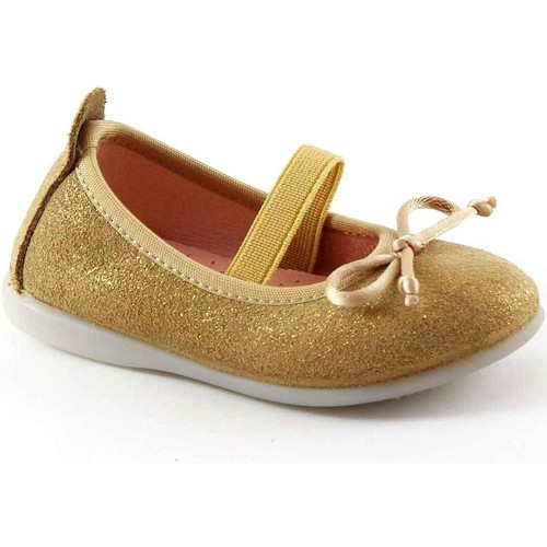 Chaussures Enfant Ballerines / babies Gioseppo SYLVIE 39613 chaussures dorées de ballerines bébé élastiques Oro
