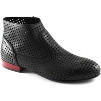 Chaussures Femme Bottines Café Noir CAF-E17-MEB232-010 Nero