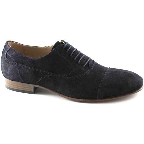 Chaussures Homme Richelieu Nero Giardini BLACK JARDINS 4870 chaussures bleues homme lacé lacets orteil él Blu