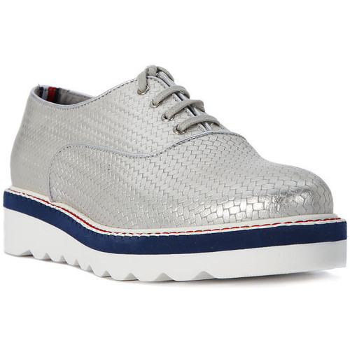 Chaussures Femme Mocassins Tommy Hilfiger PELLE SILVER Grigio