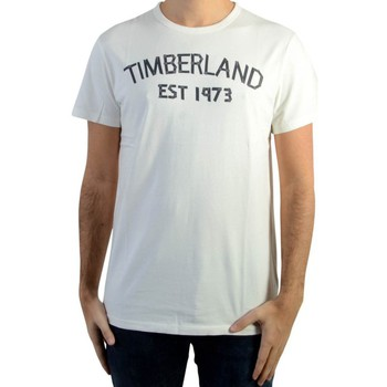 Vêtements Homme T-shirts manches courtes Timberland Tee Shirt Tape Tee Picket Fence Blanc