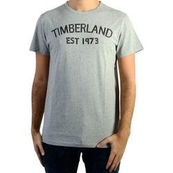 Vêtements Homme T-shirts manches courtes Timberland Tee Shirt  Tape Tee 052 Med Gry Heat Gris