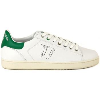 Chaussures Homme Baskets basses Trussardi Leather Vert-Blanc
