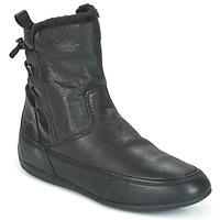 Chaussures Femme Boots Geox D NEW MOENA Noir