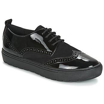 Chaussures Femme Derbies Geox D BREEDA Noir