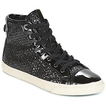 Chaussures Femme Baskets montantes Geox D NEW CLUB Noir