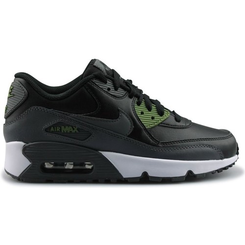 Chaussures Garçon Baskets mode Nike Air Max 90 Leather Junior Noir Noir