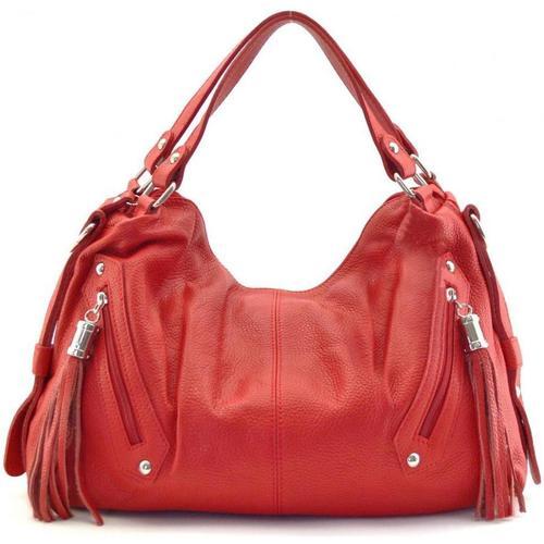 Sacs Femme Sacs Bandoulière Oh My Bag Sac à main cuir femme - Modèle Arizona rouge clair ROUGE CLAIR