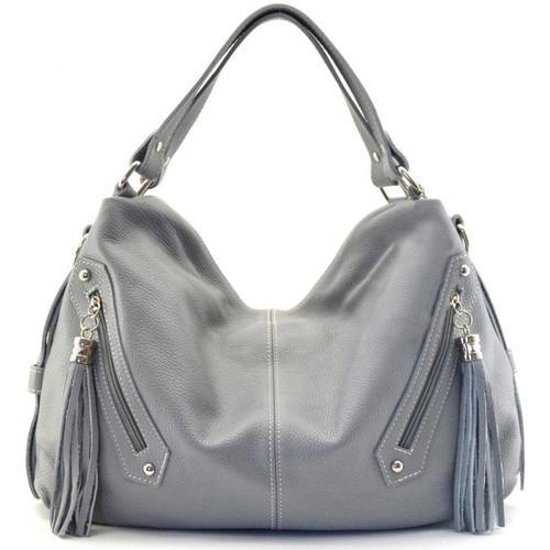 Sacs Femme Sacs Bandoulière Oh My Bag Sac à main cuir femme - Modèle Arizona gris clair GRIS CLAIR