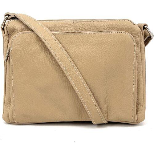 Sacs Femme Sacs porté épaule Oh My Bag Sac à main bandoulière en cuir femme - Modèle Manattan taupe cla TAUPE CLAIR