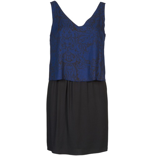Vêtements Femme Robes courtes Naf Naf LORRICE Noir / Bleu