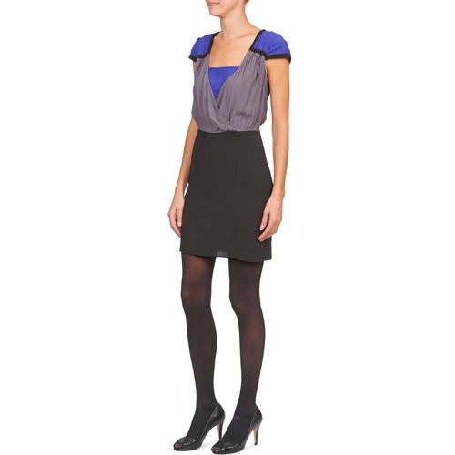 NoirGris Lyfan Robes Courtes Femme Bleu Naf byg76f