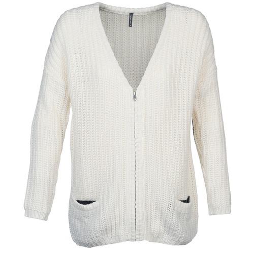 Vêtements Femme Gilets / Cardigans Naf Naf MEDEN Ecru