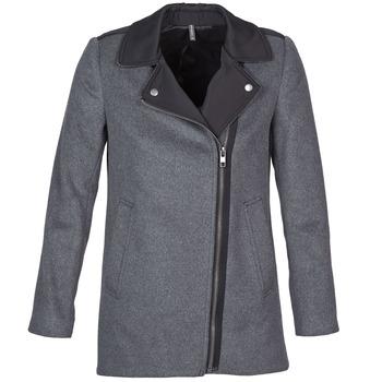 Vêtements Femme Manteaux Naf Naf ARNO Gris / Noir