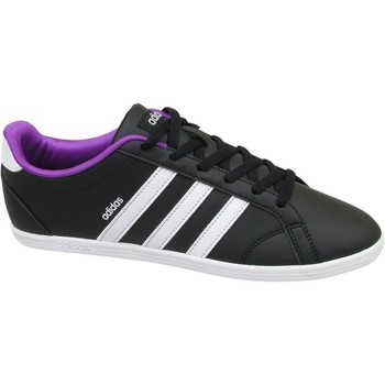 Chaussures Femme Baskets basses adidas Originals VS Coneo QT W Violet-Noir-Blanc