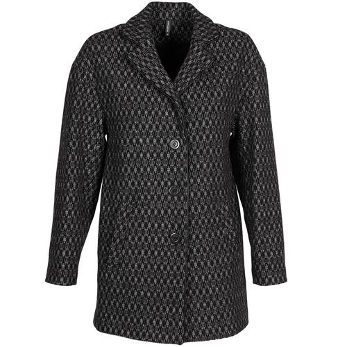 Vêtements Femme Manteaux Naf Naf AKLAPA Noir