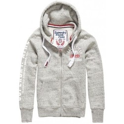 Vêtements Enfant Sweats Superdry Sweat  Track&field Ziphood Canyon Pebble Gris